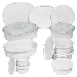 French White® 18-pc Round & Oval Set