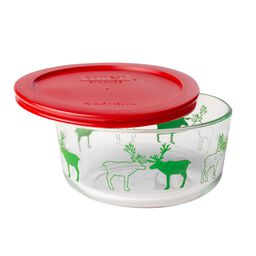 Storage Plus® 4 Cup Reindeer Holiday Dish