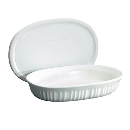 French White® 23-oz Oval Baking Dish w/ Lid