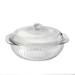 2-qt Sculpted Casserole w/ Glass Lid