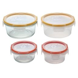 Total Solution™ Pyrex® Glass & Plastic Food Storage 8-pc Round Set