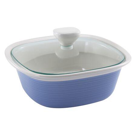 Etch™ Blue Cornflower 1.5-qt Square w/ Glass Lid