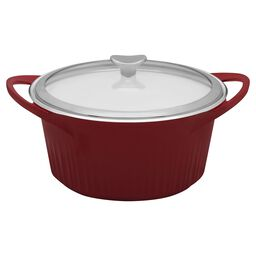 French White® Cast Aluminum™ 5.5-qt Tomato (Red) Round Dutch Oven