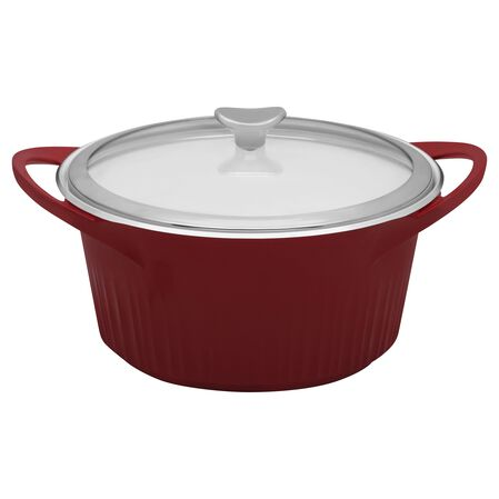 French White® Cast Aluminum™ 5.5-qt Tomato (Red) Round Dutch Oven