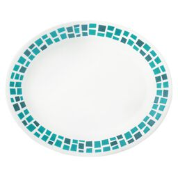 "Boutique™ Precious Colors 9.5"" Oval Platter, Turquoise"