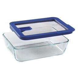 No-leak Lids™ 6 Cup Rectangle Storage Dish