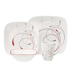 Corelle Square Pattern Dinnerware Sets