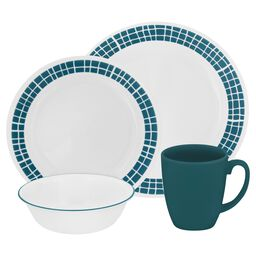 Livingware™ Aqua Tiles 16-pc Dinnerware Set