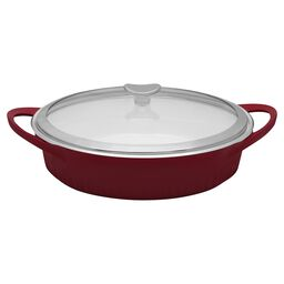 French White® Cast Aluminum™ 4-qt Tomato (Red) Braiser
