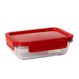 4-lock™ 2 Cup Rectangle Storage w/ Red Lid