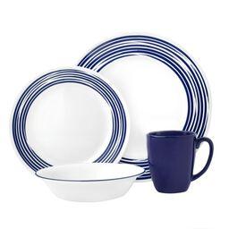 Boutique™ Brushed 16-pc Dinnerware Set, Cobalt Blue
