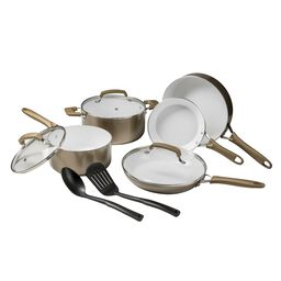 Wearever Pure Living Champagne Gold 10-pc Cookware Set