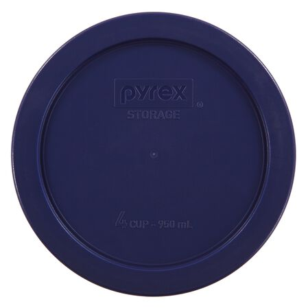 Plastic Lid 4 Cup Round, Blue