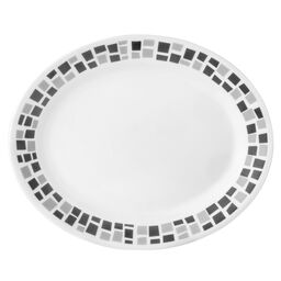 "Boutique™ Precious Colors 9.5"" Serving Platter, Platinum Silver"