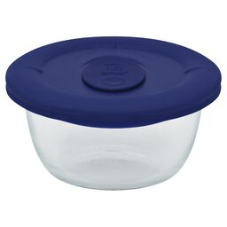 Pro 1.67-cup Round Storage Dish w/ Navy Vented Lid
