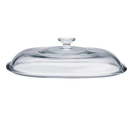 French White® 4-qt Oval Glass Lid