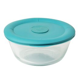 Pro 3.67-cup Oval Storage Dish w/ Turquoise Vented Lid