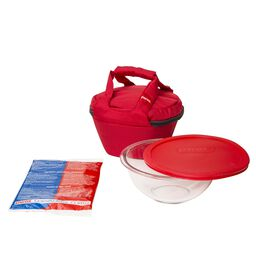 Portables® 4-pc Mixing Bowl Set, Red