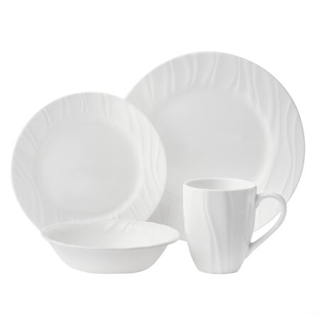 Boutique™ Swept Embossed 16-pc Dinnerware Set