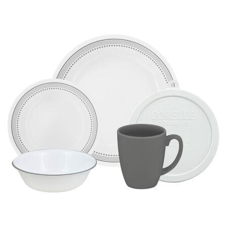 Livingware™ Mystic Gray 20-pc Dinnerware Set w/ Lids