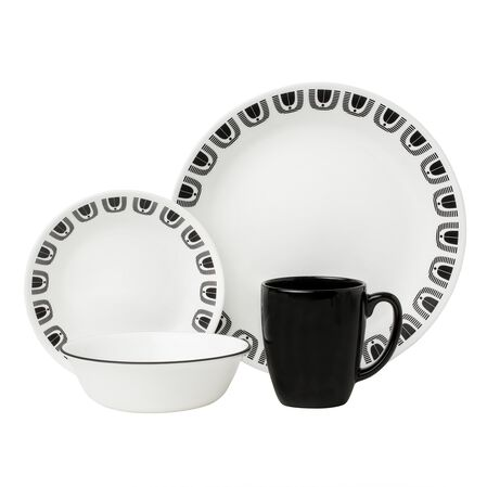 Livingware™ Black Night 16-pc Dinnerware Set