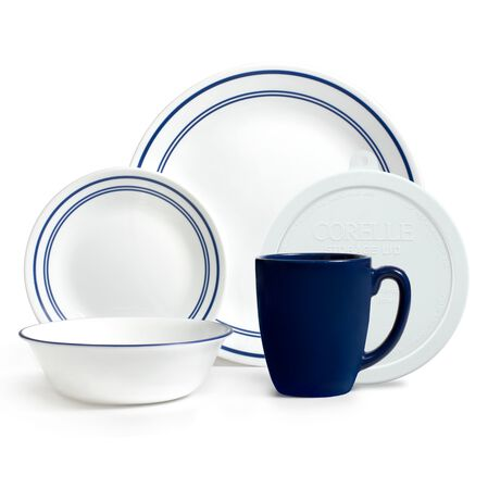 Livingware™ Classic Café Blue 20-pc Dinnerware Set w/ Lids