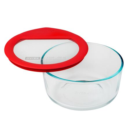 Ultimate 4 Cup Round Storage Dish, Red