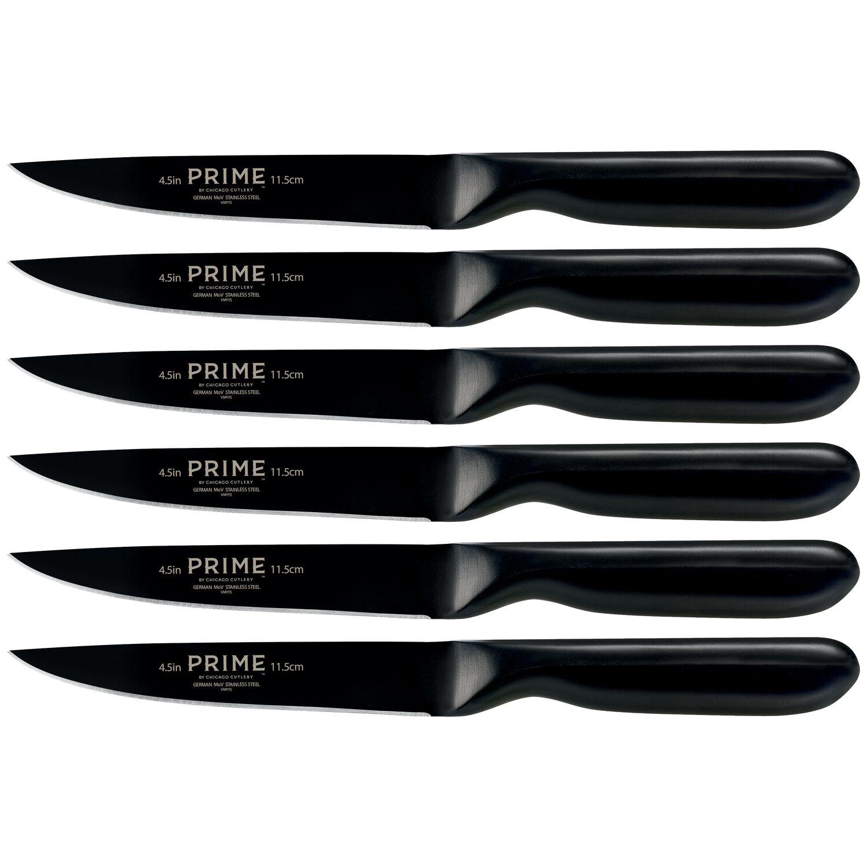 Prime™ By Chicago Cutlery® Black Oxide 6-Pc Steak Knife Set