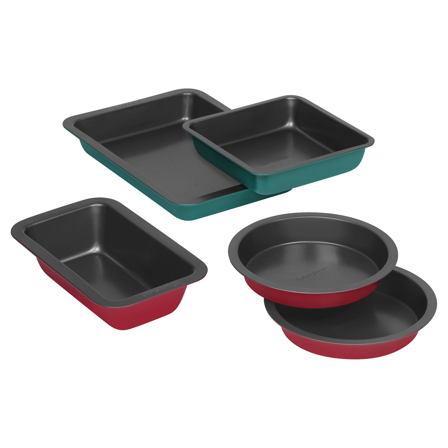 Baker's Secret 5-Pc Colored Bakeware Set