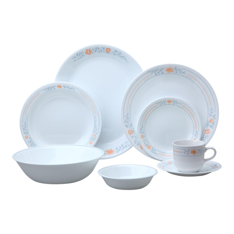 Corelle livingware apricot grove 76 pc dinnerware set for Kitchen dish sets