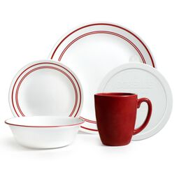Livingware™ Classic Café Red 20-pc Dinnerware Set w/ Lids