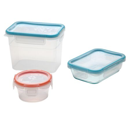 Total Solution™ Pyrex® Glass & Plastic Food Storage 6-pc Set