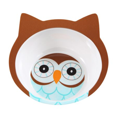 Friendly Faces Melamine Owl Bowl