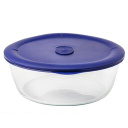 Pro 3-qt Round Storage Bowl w/ Blue Vented Lid