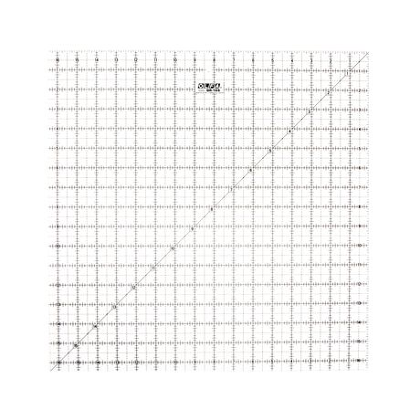 """16-1/2"""" Square Frosted Acrylic Ruler (QR-16S)"""