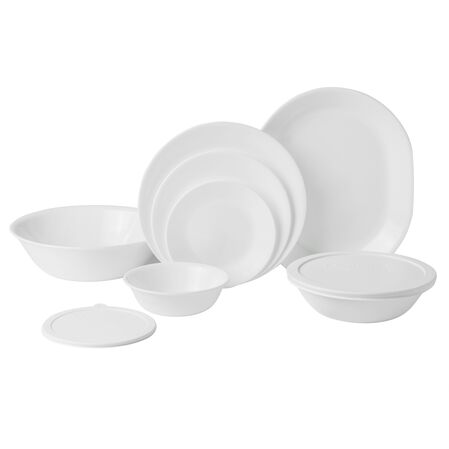 Livingware™ Winter Frost White 74-pc Dinnerware Set