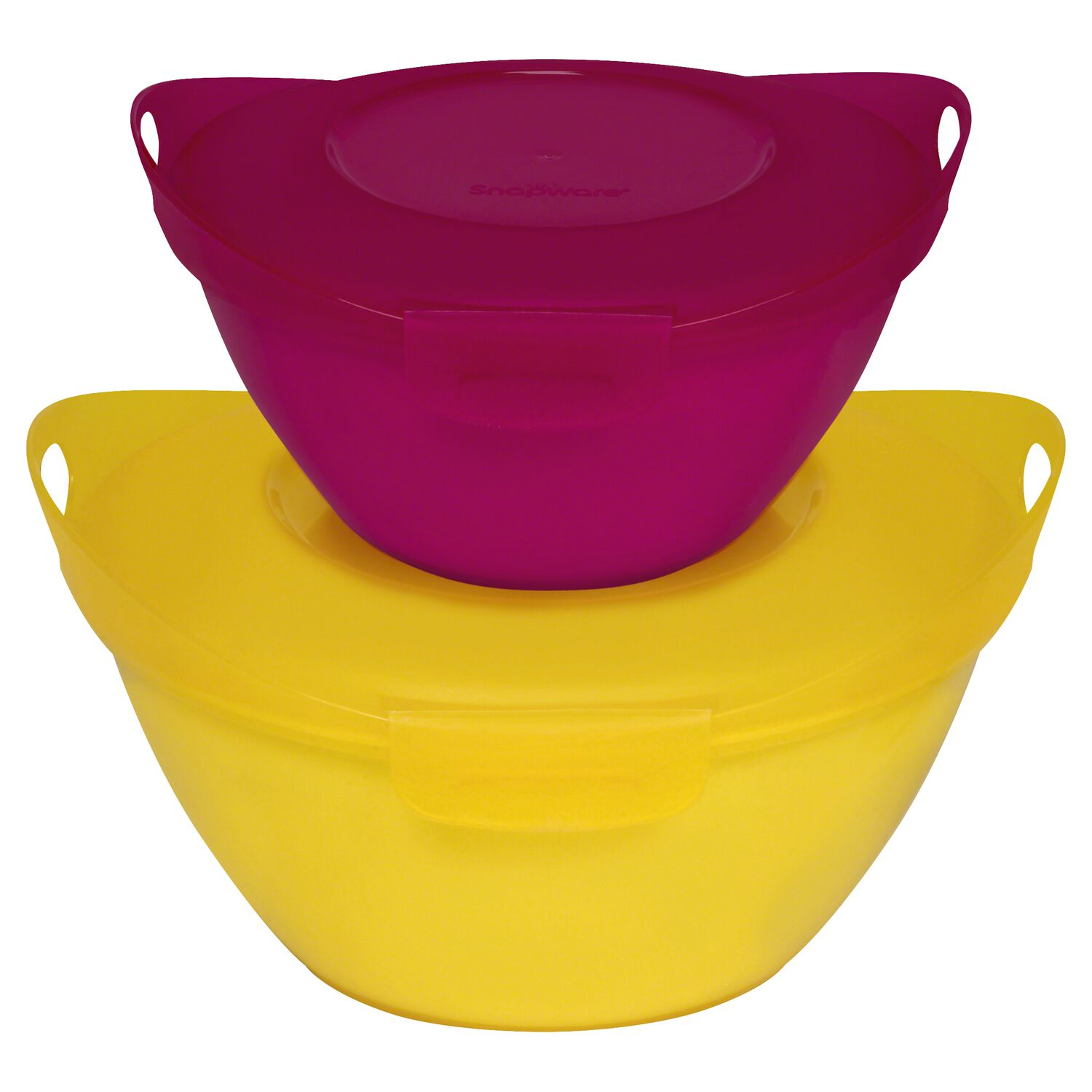 Snapware Entertain-a-Bowl 4-pc Small Value Pack, Yellow & Pink
