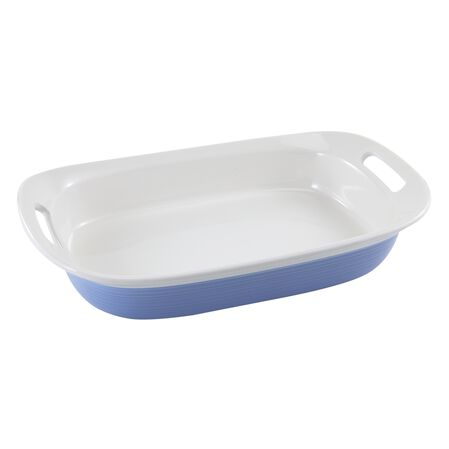 Etch™ Blue Cornflower 3-qt Oblong Dish