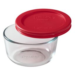 Simply Store® 1 Cup Round Dish w/ Red Lid