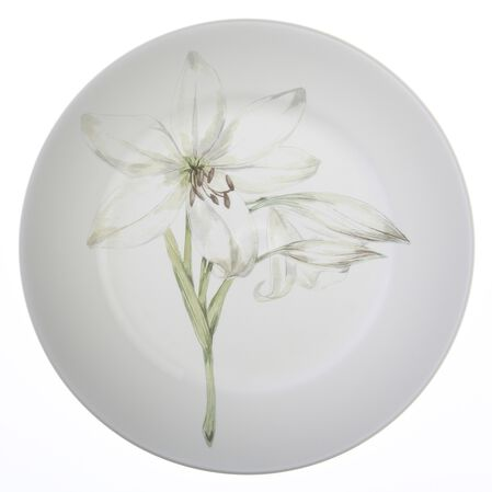 "Impressions™ White Flower 10.75"" Plate"