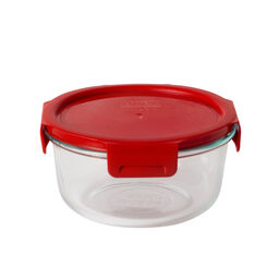 4-lock™ 4 Cup Round Storage w/ Red Lid