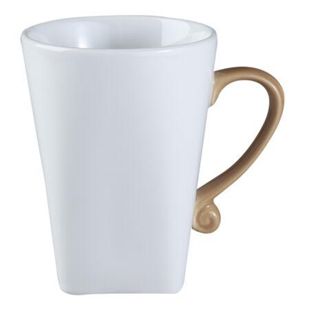 B-Frames 11-oz Porcelain Mug, Taupe