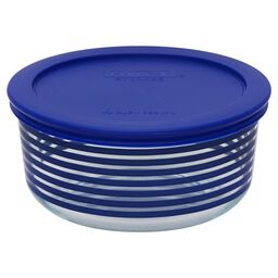 Storage Plus® 4 Cup Blue Lane Storage Dish w/ Blue Lid