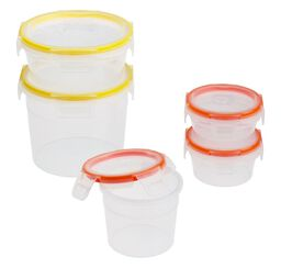 Total Solution™ Plastic Food Storage Round 10-pc Set