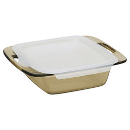 "Easy Grab™Amber 8"" Square Baking Dish w/ Lid"