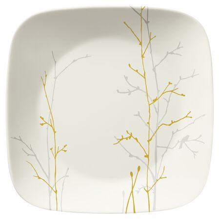 """Gilded Woods 9"""" Square Plate"""