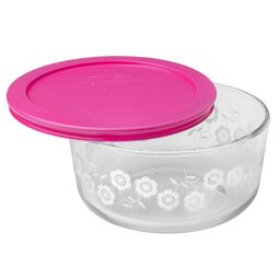 Simply Store® 4 Cup Flowers Storage Dish W/ Berry Lid (Pink)
