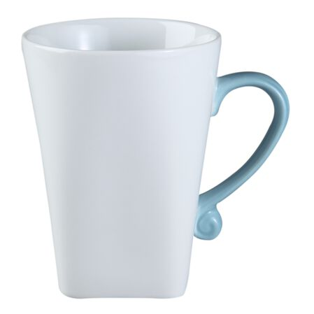 B-Frames 11-oz Porcelain Mug, Bleu