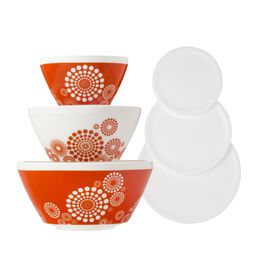Tickled Pink 6-pc Mixing Bowl Set, inspired by Pyrex®