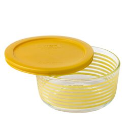 Storage Plus® 4 Cup Yellow Lane Storage Dish w/ Yellow Lid